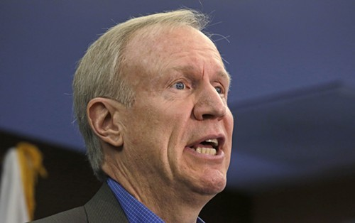 Republican Bruce Rauner has donated more than $8 million to his campaign for governor.