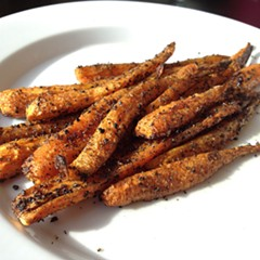 roasted carrots with nigella seeds