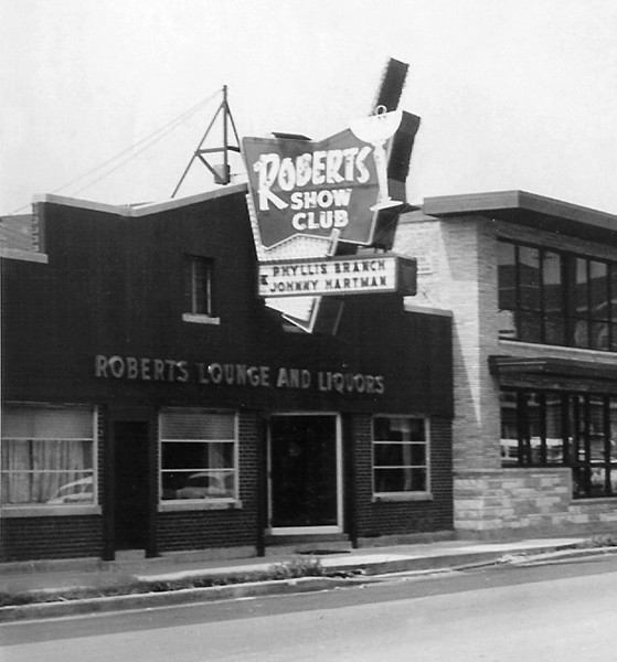 Roberts's namesake club in August 1957, shortly after its expansion - HERMANROBERTS.ORG