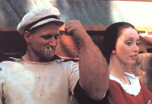 Robin Williams and Shelley Duvall in Robert Altmans Popeye