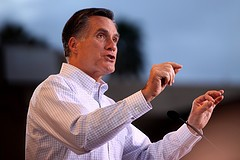 Romney at a rally in Mesa, Arizona in February