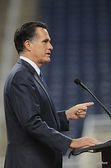 Romney in Detroit in February