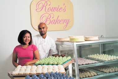 Rowie Reyes and Mike Ramos at Rowies Bakery