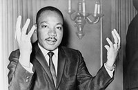 Sarah Simmons shows different ways to honor Dr. Martin Luther King