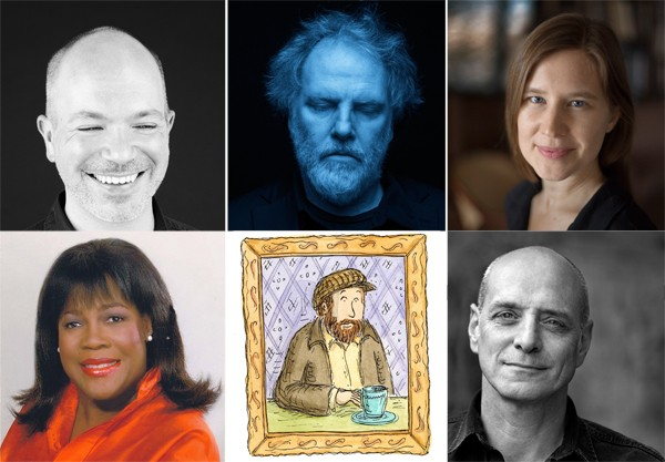 Sasha Frere-Jones, Guy Maddin, Eula Biss, Chaz Ebert, Stephin Merritt, and Eric Schlosser - COURTESY CHICAGO HUMANITIES FESTIVAL