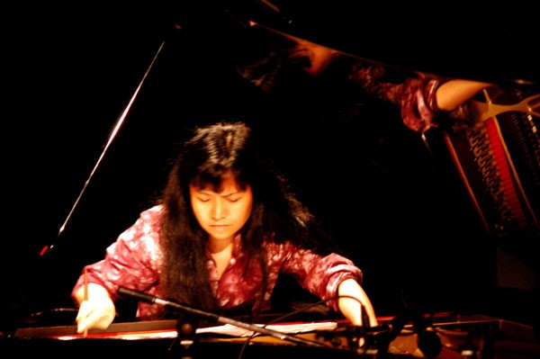 Satoko Fujii plays at the Von Freeman Pavilion.