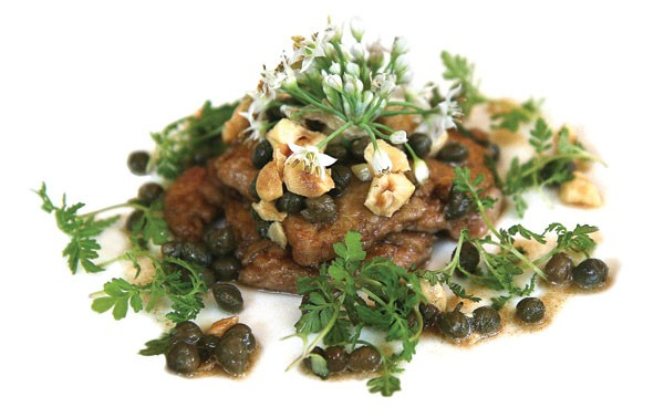 Sauteed calves' brains with fried hazelnuts and capers - JULIA THIEL