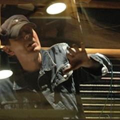 Scott Walker in the studio, from the sessions from The Drift (2006)