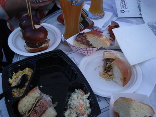 Several of the burgers we tasted