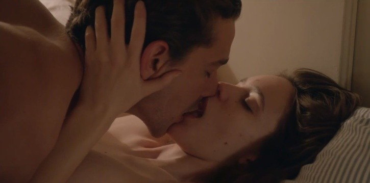 Shia LeBoeuf and Stacy Martin in Nymphomaniac