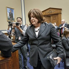 Should writers feel sheepish for describing former Secret Service director Julia Pierson as sheepish in the wake of security lapses that could have been disastrous?