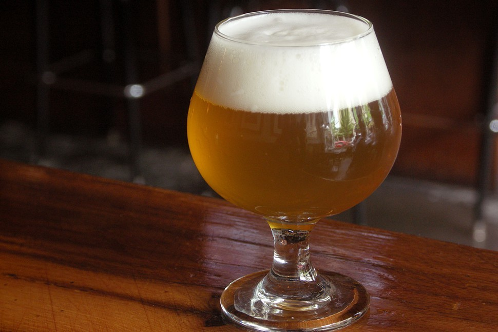 Side Projects spectacular one-off apricot sour, La Fosse (French for the pit and a play on the name of the brewerys peach sour, Fuzzy)