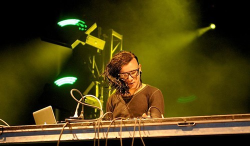Skrillex performing in Ottawa
