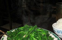 Snow pea shoots at Sun Wah: it must be spring
