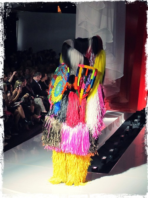 Soundsuits created by 2014 Legend of Fashion Award honoree Nick Cave
