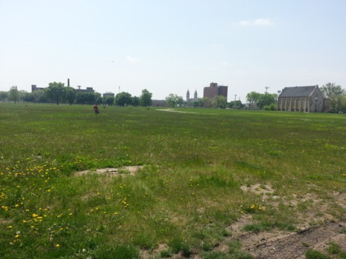 South of Roosevelt Road and east of Ashland, the former site of the ABLA housing project remains empty.