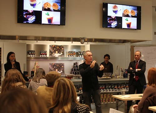 Speaking in La Scuola at Eataly.