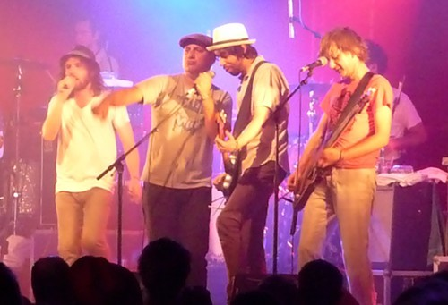 Spiral Stairs onstage with Broken Social Scene