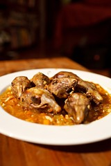 Squirrel heads braised in mirepoix and sherry - MICHAEL BOYD