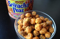 Snack time: Spicy sriracha peas