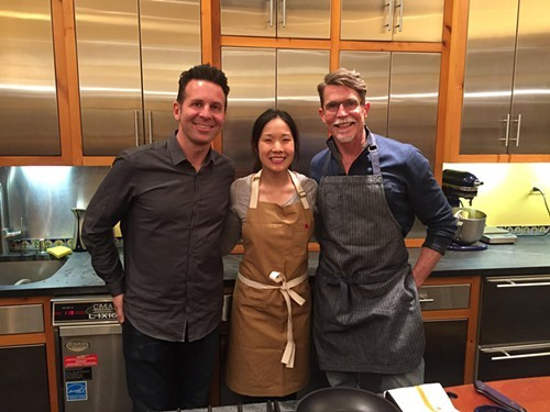 Steve Dolinsky, Beverly Kim and Rick Bayless, nominees all