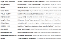 Life to be sad, empty when the candidates stop e-mailing