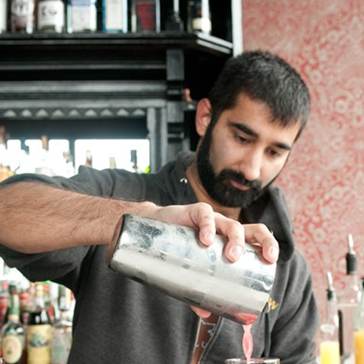 Step-by-step instructions for making Scofflaw bartender Uby Khawaja's Tomfoolery