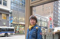 Street View 095: Meimei wears blue from head to toe