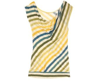 Striped top by Long Tall Sally, a clothing company for tall women, holds a pop-up shop this weekend.
