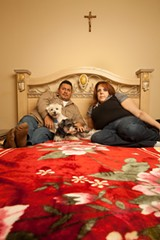 Taina Rodriguez and Hernan Velarde were lucky to be at the beach with their dogs when their apartment caught on fire, which Rodriguez believes was caused by her landlord's attempt to eradicate bedbugs. - JIM NEWBERRY