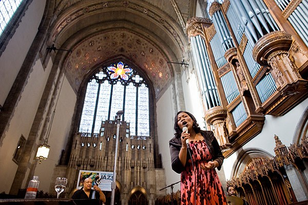 Tammy McCann performing at Rockefeller Memorial Chapel during the Hyde Park Jazz Festival