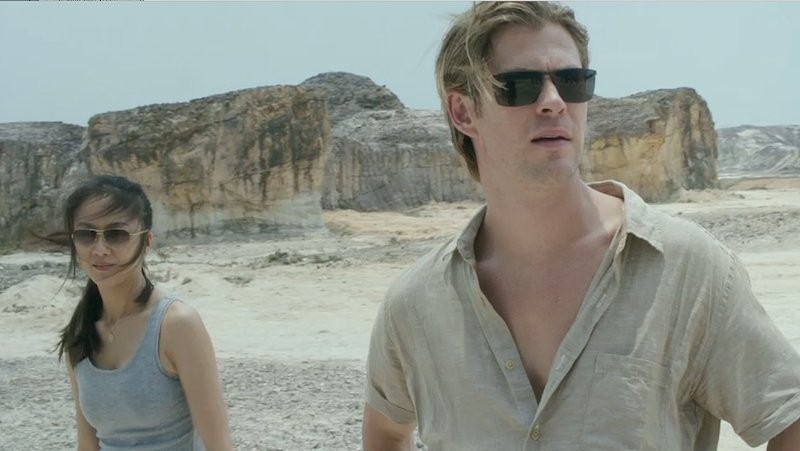 Tang Wei and Chris Hemsworth in Malaysia or Indonesia or someplace