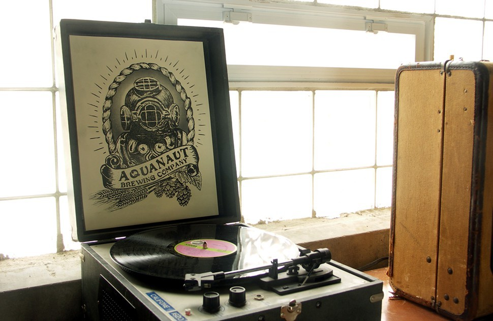 Thats a Howlin Wolf record on the Aquanaut turntable, in case you were wondering.