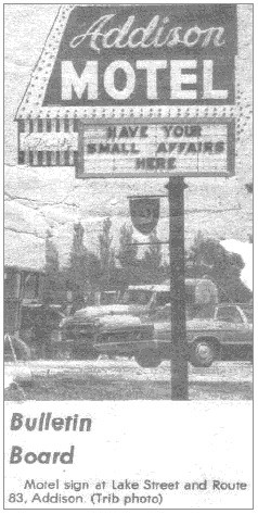 The Addison Motel in its heyday