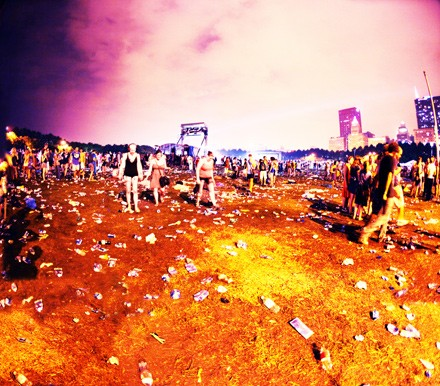 The aftermath of the Arcade Fire's set at last year's Lollapalooza