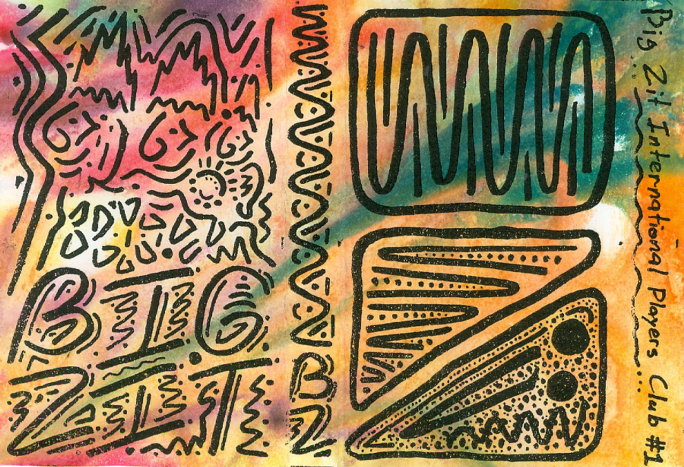 The art for Big Zits debut demo cassette