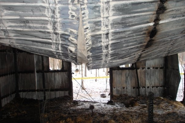 The barn after the fire