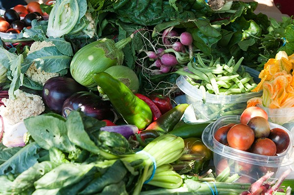 The bounty of the refugees' communal crops, available at their weekly markets - ANDREA BAUER