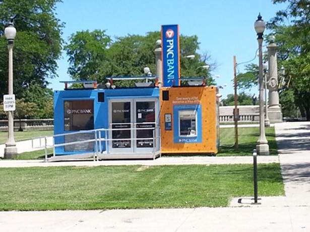 A bank set up on public land in grant park what 39 s next bleader - Shipping container homes chicago ...