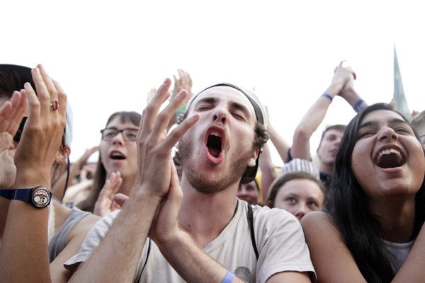 The crowd during St. Vincent's set - ANTHONY SOAVE