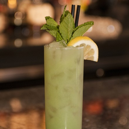 The Ecto Shrub, an okra cocktail by Vie's Mike Page