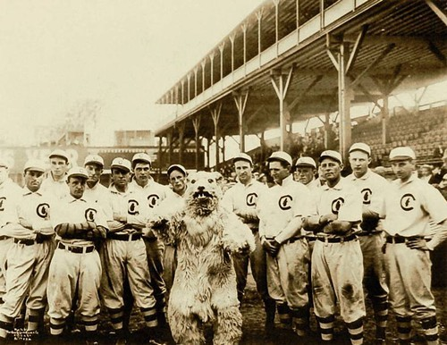 The last Cubs mascot that worked, 1908.