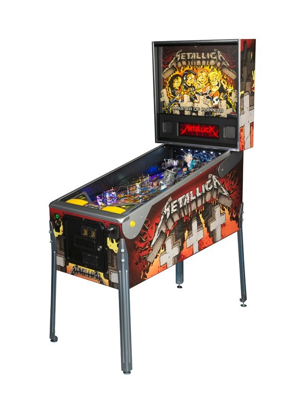 The limited edition Metallica pinball machine