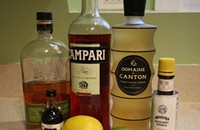 Making (several) ginger liqueur cocktails with Domaine de Canton