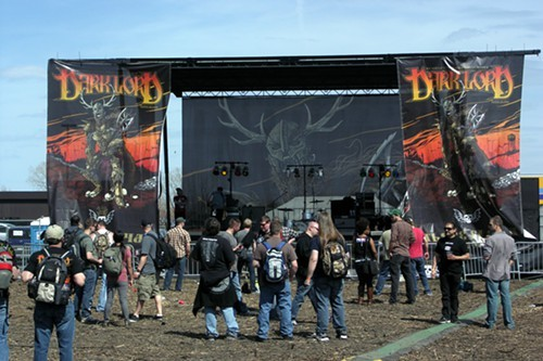 The new outdoor stage at Dark Lord Day, quiescent between bands