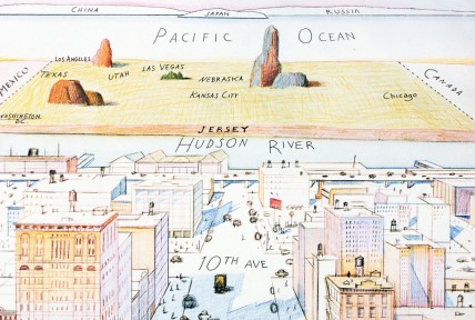 The New Yorkers view of the world isnt quite as narrow as Saul Steinbergs.