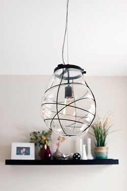 The Parker home has several interesting light fixtures. - ANDREA BAUER