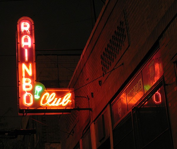 The Rainbo Club, where Nelson Algren drank in the 40s and musicians and hipsters mingled and drank in the 90s - JOEL MANN