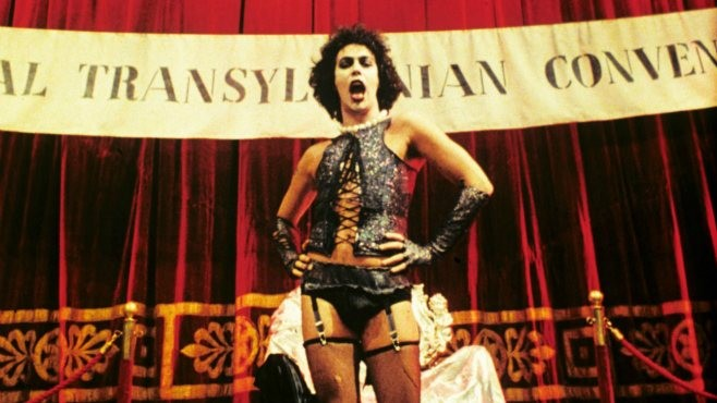 The Rocky Horror Picture Show must feature one of the most famous curtains in movie history.