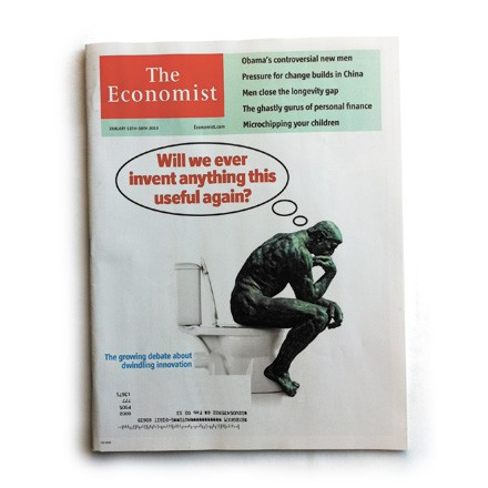 The Thinker may be on the cover, but how much thinking did the Economist really do?
